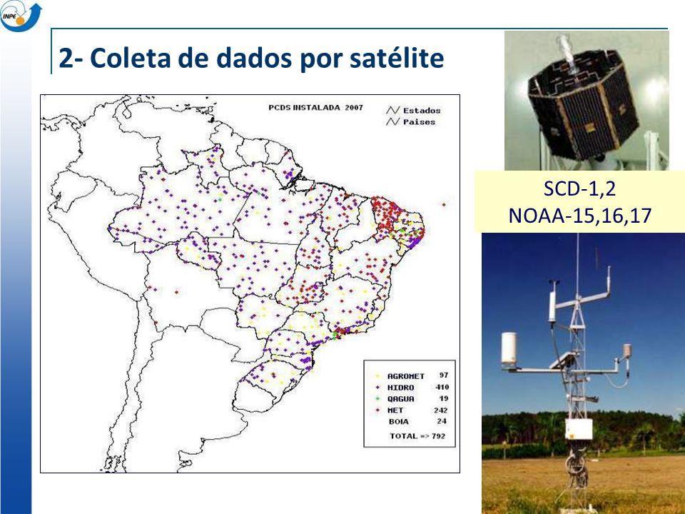 2- Coleta de dados por satélite SCD-1,2 NOAA-15,16,17