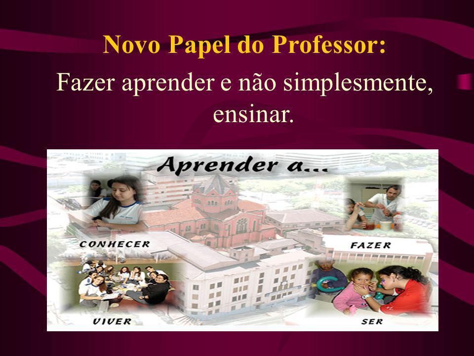 Novo Papel do Professor: Fazer aprender e não simplesmente, ensinar.