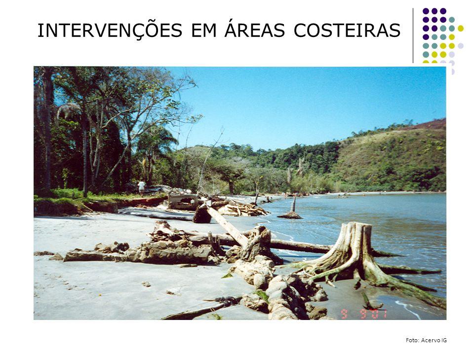INTERVENÇÕES EM ÁREAS COSTEIRAS Foto: Acervo IG