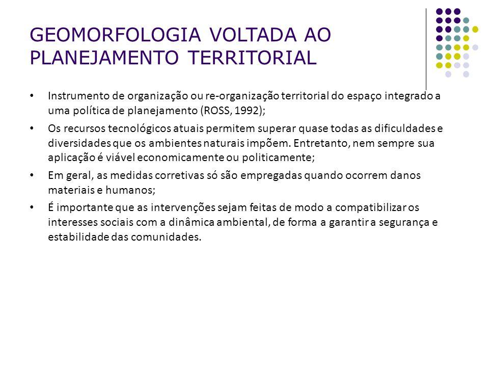 Instrumento de organização ou re-organização territorial do espaço integrado a uma política de planejamento (ROSS, 1992); Os recursos tecnológicos atu