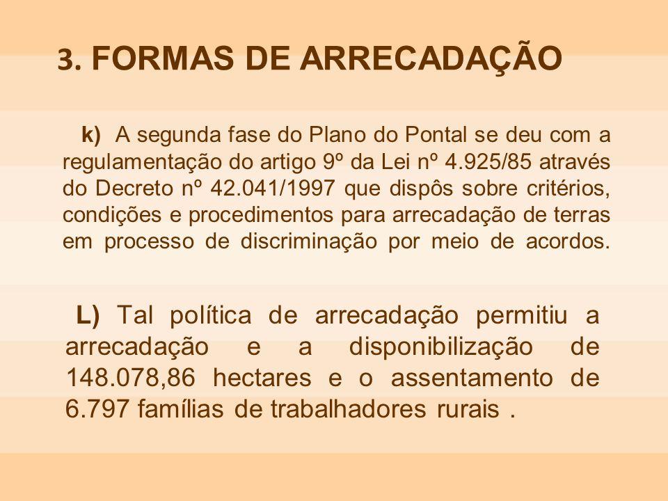 k) A segunda fase do Plano do Pontal se deu com a regulamentação do artigo 9º da Lei nº 4.925/85 através do Decreto nº 42.041/1997 que dispôs sobre cr