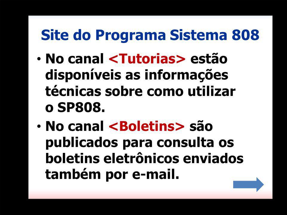 No canal estão disponíveis as informações técnicas sobre como utilizar o SP808.
