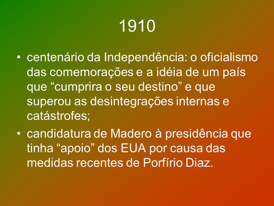 1910 centenário da Independência: o oficialismo das comemorações e a idéia de um país que cumprira o seu destino e que superou as desintegrações inter