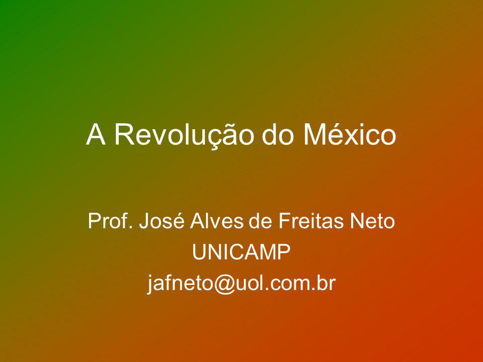 OBJETIVOS Apresentar os principais episódios que constituem a Revolução Mexicana Discutir as principais interpretações historiográficas sobre o tema Qual o papel da Revolução no processo de modernização da América Latina.