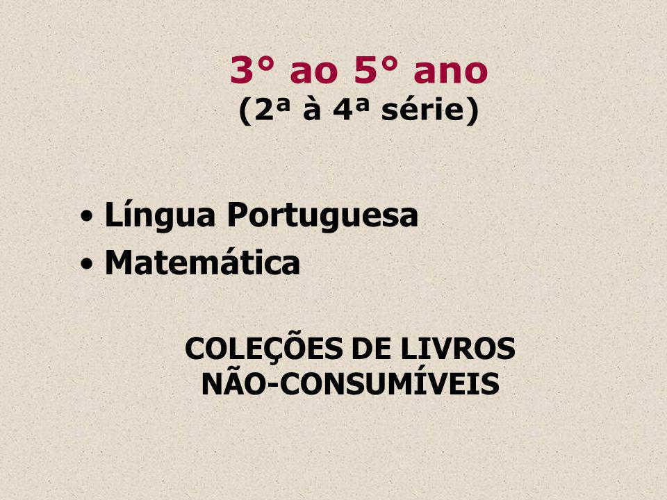 Programa Nacional Biblioteca da Escola-PNBE 2009: EM e 6 ° ao 9° ano EF 2010: Infantil, 1° ao 5° ano e EJA 2011: EM e 6 ° ao 9° ano EF 2012: Infantil, 1° ao 5° ano e EJA 20….: continua em ciclos bienais (obras de literatura, de referência e de pesquisa)