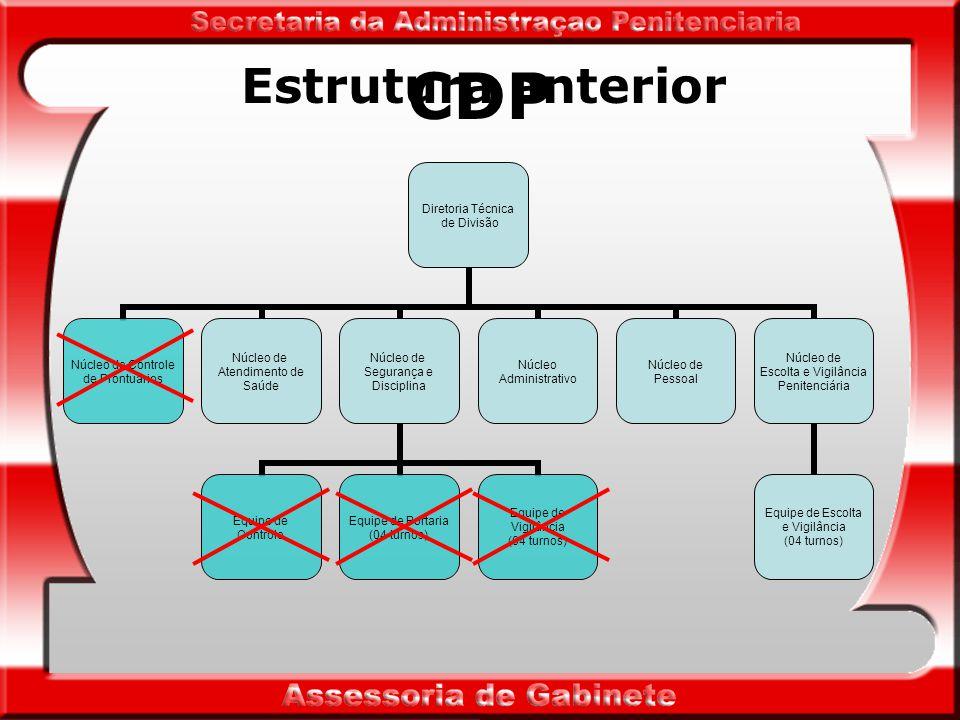 CDP Centro de Detenção Provisória - destina-se à custódia de presos provisórios.