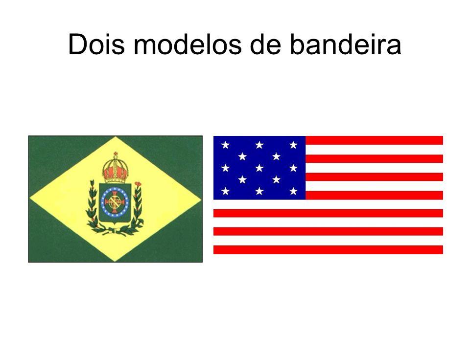 Dois modelos de bandeira