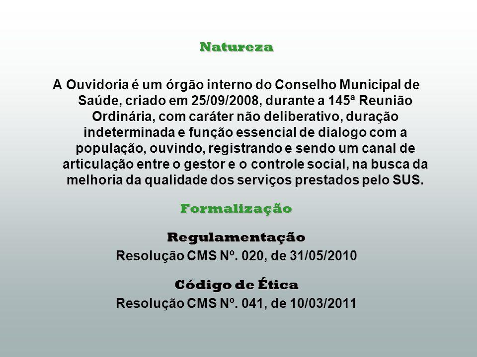 Resumos das atividades da Ouvidoria 1º, 2º e 3º quadrimestres de 2013 Objetivo: subsidiar avaliações sobre o nível de satisfação dos usuários em relação aos resultados da produção da rede pública de saúde no mesmo período.