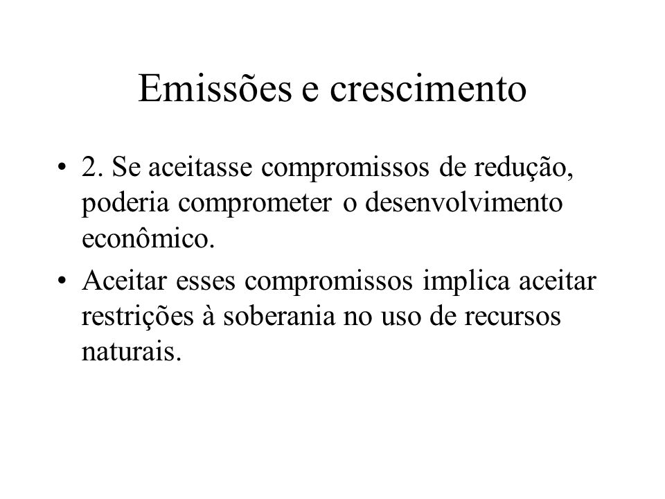 Emissões e crescimento 2.