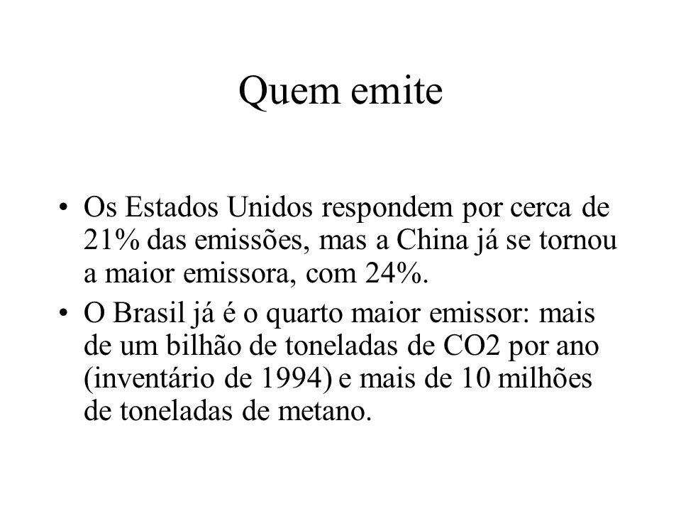 Cenários para o Brasil Cenários traçados pelo INPE: Ao longo deste século, aumento de 6 a 8 graus na temperatura na Amazônia.