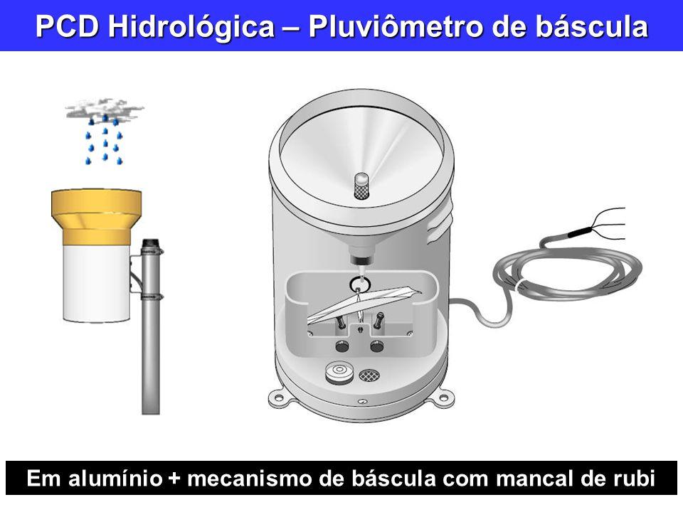 PCD Hidrológica – Pluviômetro de báscula Em alumínio + mecanismo de báscula com mancal de rubi