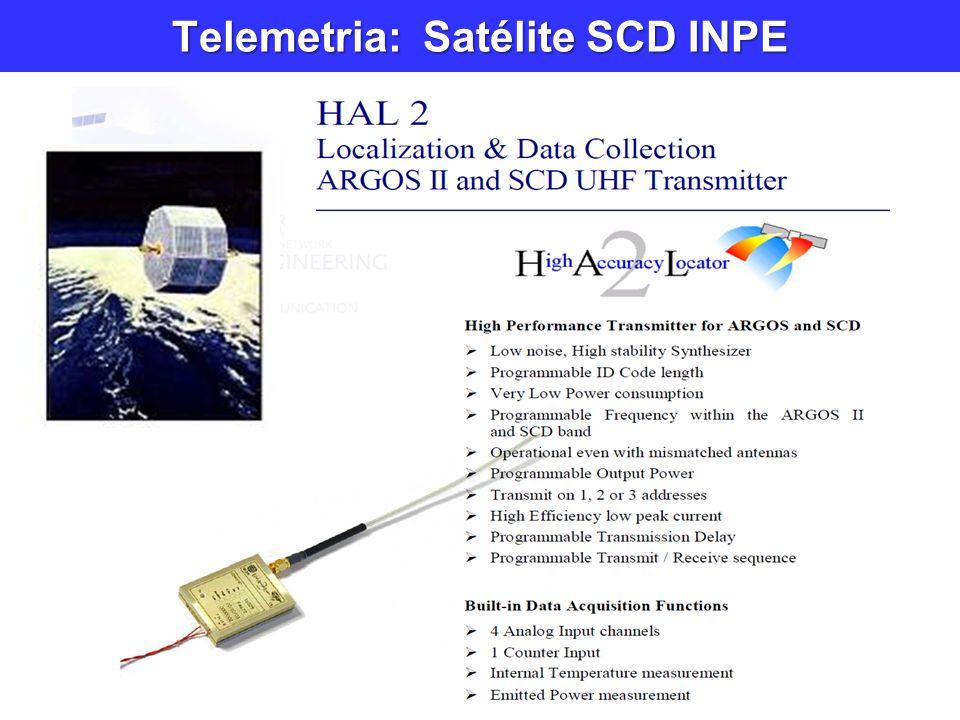 Telemetria: Satélite SCD INPE