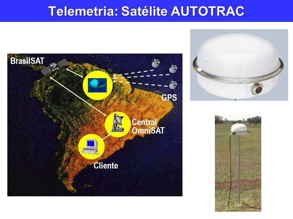 Telemetria: Satélite AUTOTRAC BrasilSAT GPS Central OmniSAT Cliente