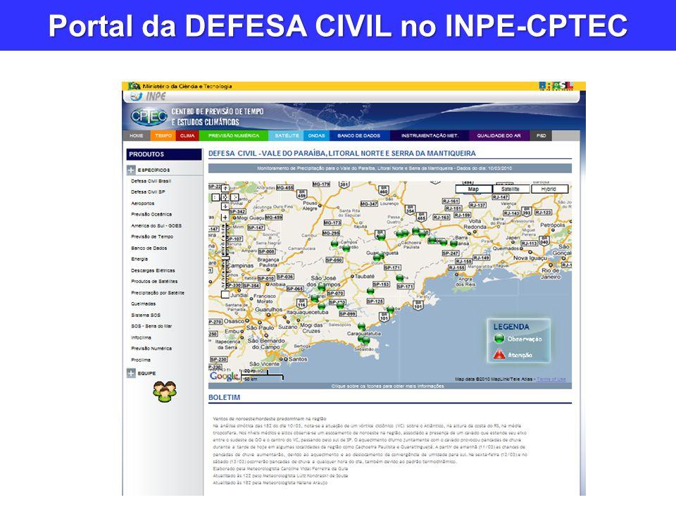 Portal da DEFESA CIVIL no INPE-CPTEC