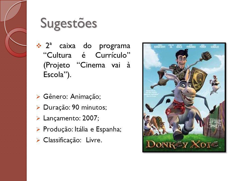 Sugestões 2ª caixa do programa Cultura é Currículo (Projeto Cinema vai à Escola).