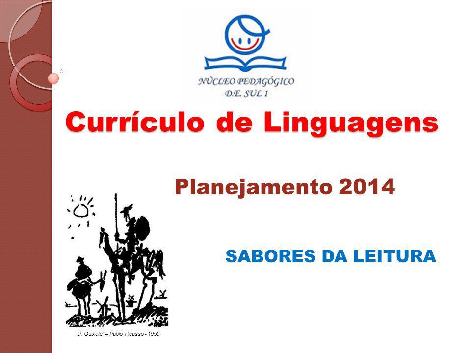 Currículo de Linguagens Planejamento 2014 SABORES DA LEITURA D. Quixote – Pablo Picasso - 1955