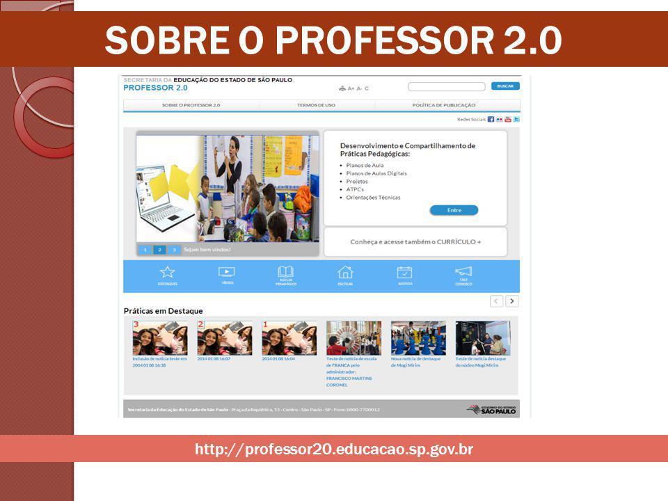 SOBRE O PROFESSOR 2.0 http://professor20.educacao.sp.gov.br