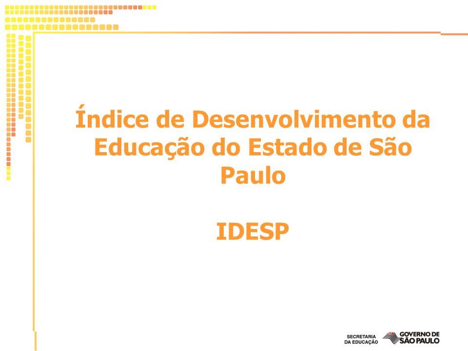 O IDESP é um indicador que avalia a qualidade da escola.