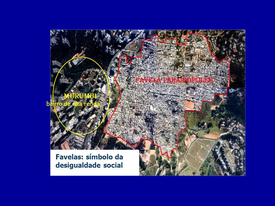 Favelas: símbolo da desigualdade social bairro de alta renda