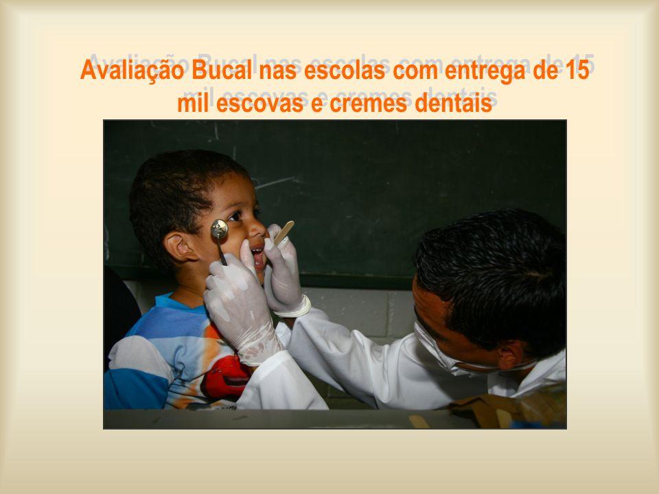 Avaliação Bucal nas escolas com entrega de 15 mil escovas e cremes dentais