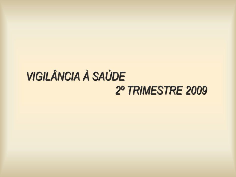 VIGILÂNCIA À SAÚDE 2º TRIMESTRE 2009