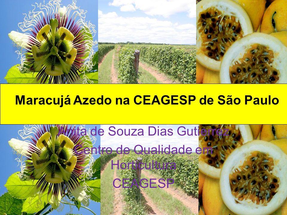 Maracujá Azedo na CEAGESP de São Paulo Anita de Souza Dias Gutierrez Centro de Qualidade em Horticultura CEAGESP