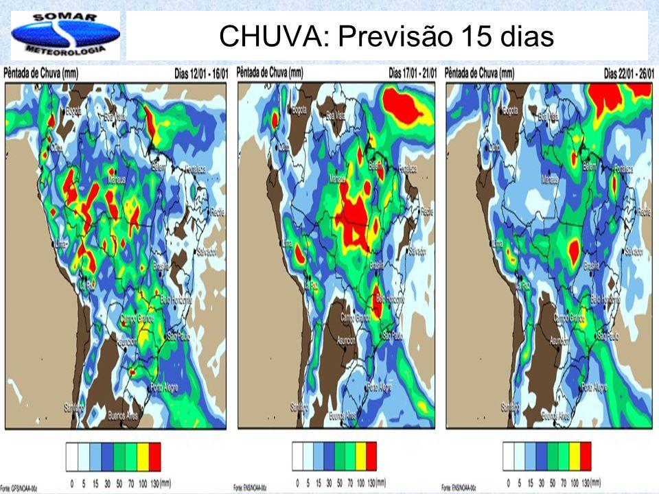 CHUVA: Previsão 15 dias