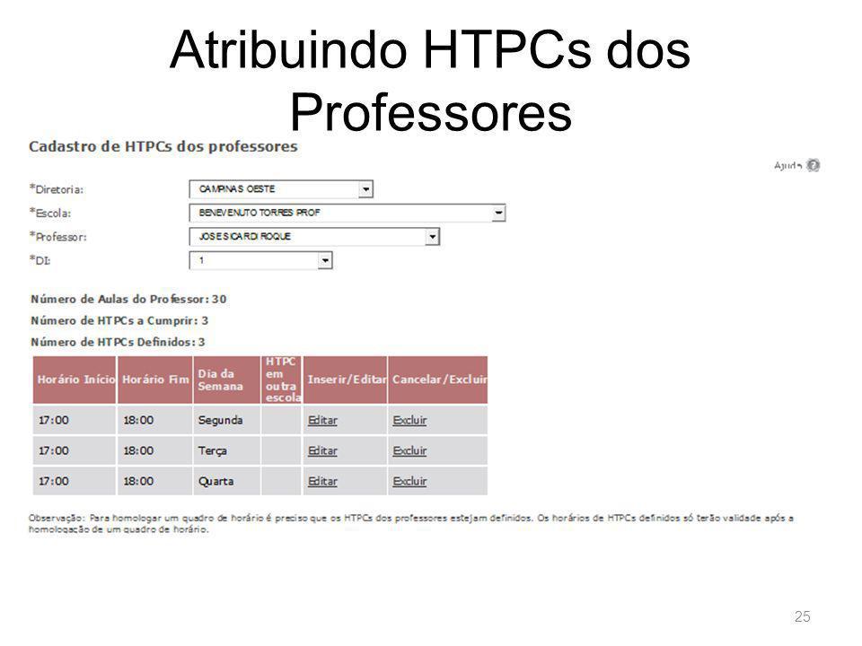 Atribuindo HTPCs dos Professores 25