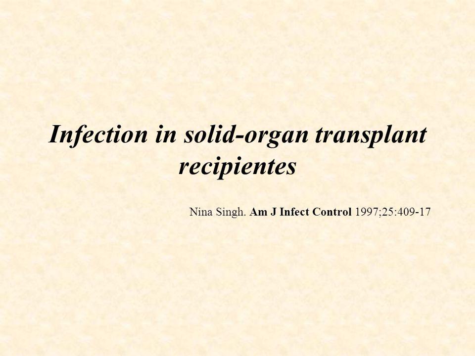 Infecção Hospitalar em crianças com Transplante de Órgão Sólido Material e Métodos População incluída: Todas as crianças admitidas na UTI após o transplante.