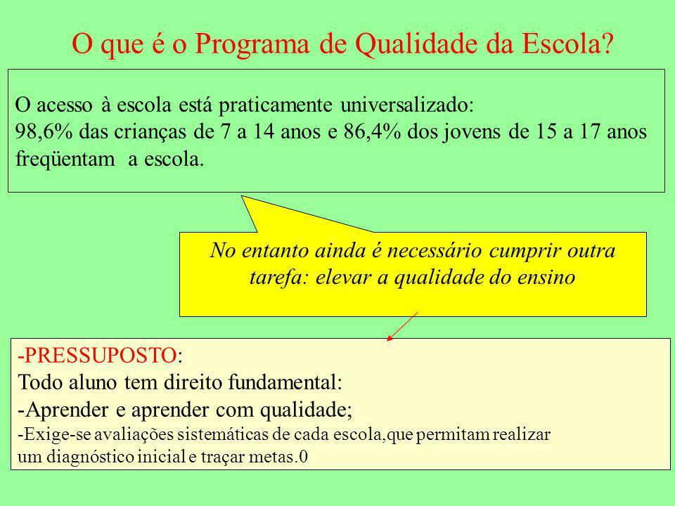 O que é o Programa de Qualidade da Escola.