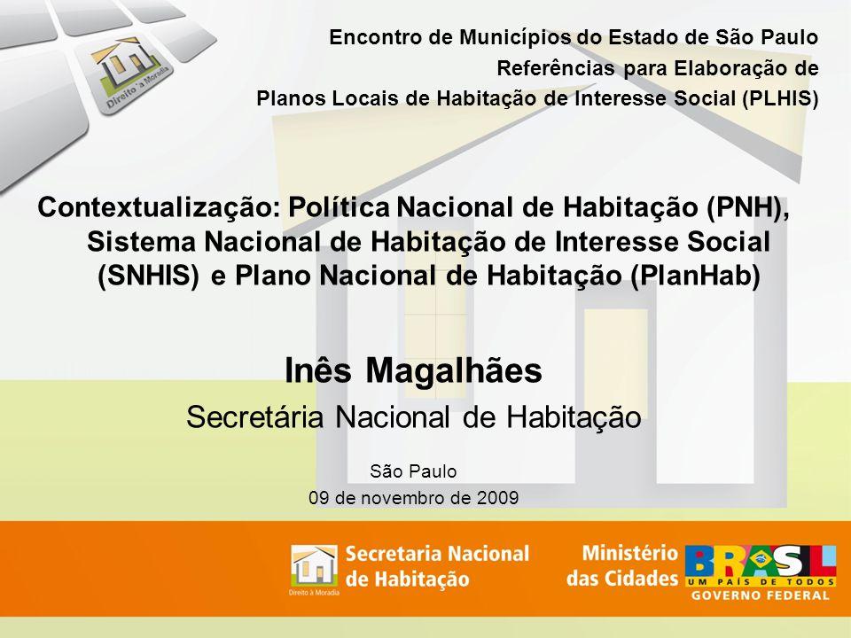 Encontro de Municípios do Estado de São Paulo Referências para Elaboração de Planos Locais de Habitação de Interesse Social (PLHIS) Contextualização: