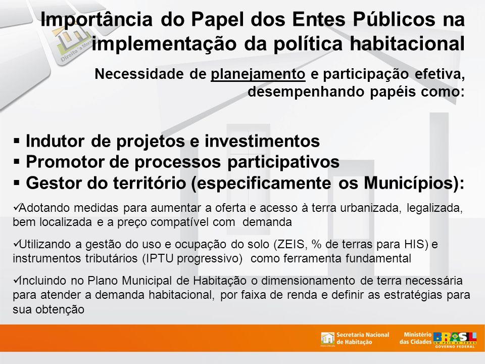 Indutor de projetos e investimentos Promotor de processos participativos Gestor do território (especificamente os Municípios): Adotando medidas para a