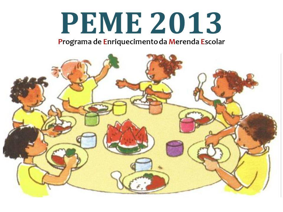 Programa de Enriquecimento da Merenda Escolar PEME 2013