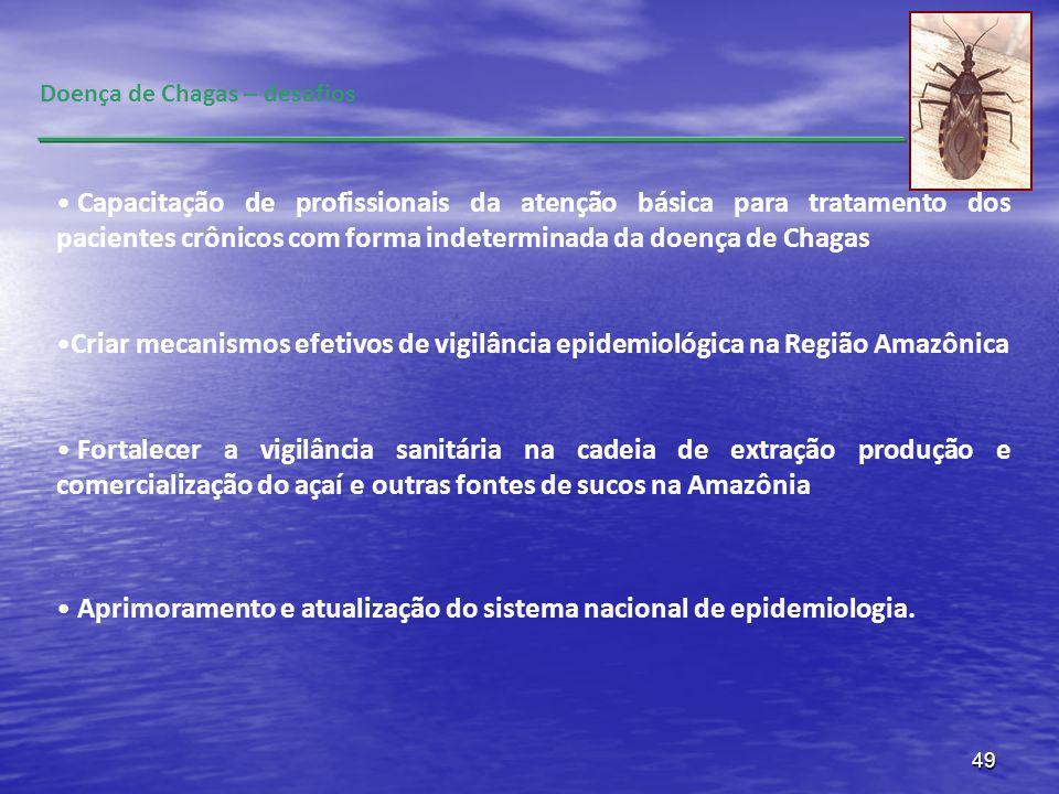 49 Doença de Chagas – desafios Capacitação de profissionais da atenção básica para tratamento dos pacientes crônicos com forma indeterminada da doença