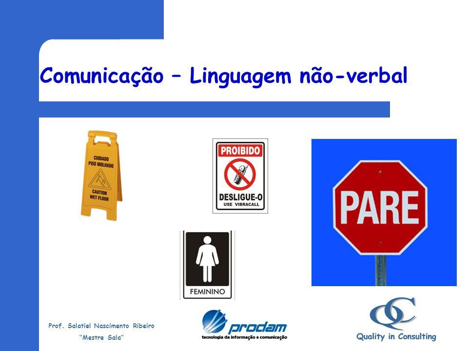 Prof. Salatiel Nascimento Ribeiro Mestre Sala O CORPO fala uma linguagem mais sincera do que as palavras: – olhar – andar – gestos – postura corporal