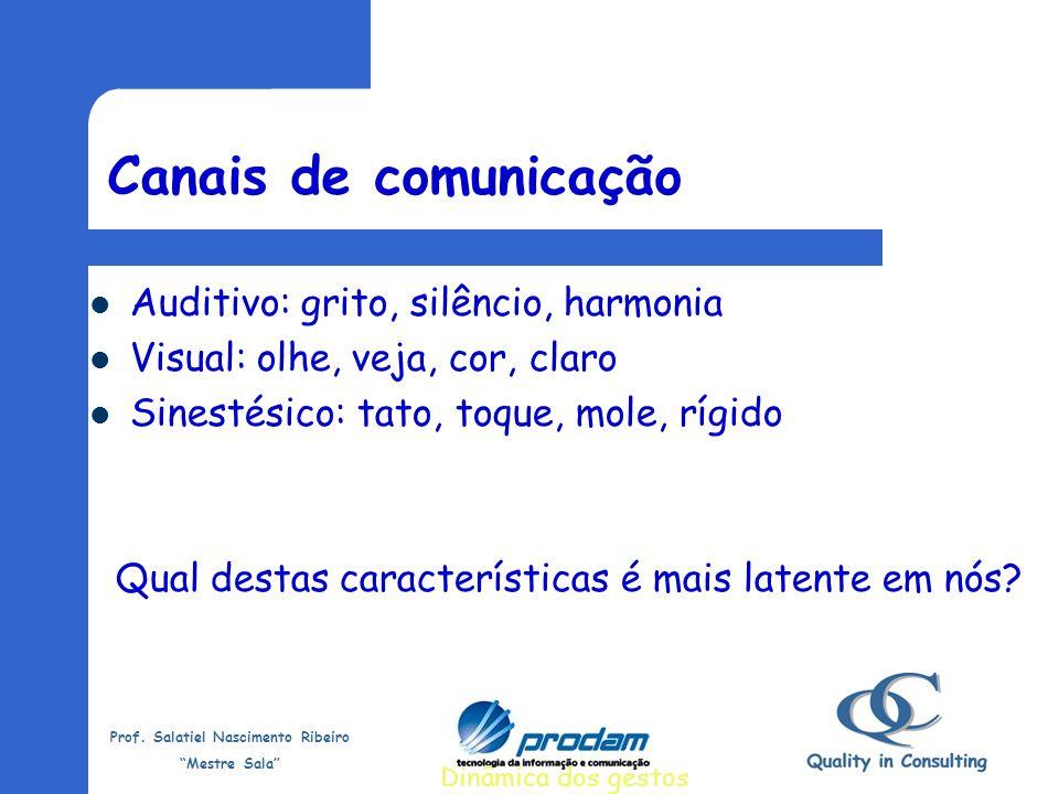 Prof. Salatiel Nascimento Ribeiro Mestre Sala Comunicação – Linguagem não-verbal