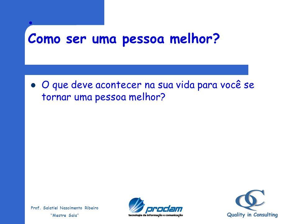 Prof. Salatiel Nascimento Ribeiro Mestre Sala Marketing Pessoal Marketing pessoal não é algo que você tem ou não tem, como um dom ou talento; é um pro