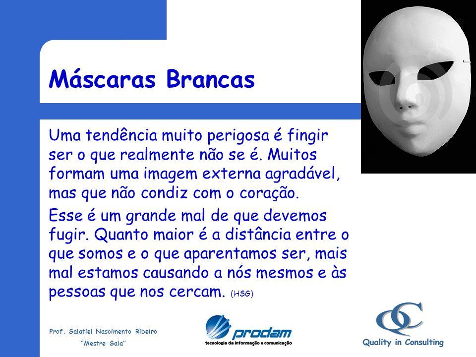 Prof. Salatiel Nascimento Ribeiro Mestre Sala Máscaras Brancas Como você é conhecido(a) pelas pessoas? A imagem que elas fazem de você se aproxima da