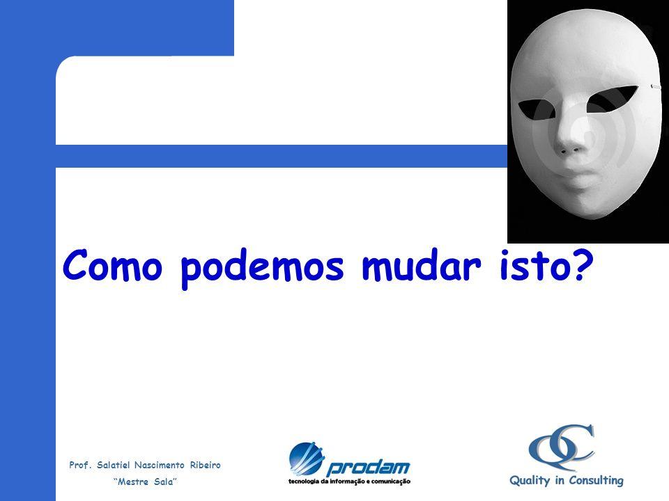 Prof. Salatiel Nascimento Ribeiro Mestre Sala Máscaras Brancas Uma tendência muito perigosa é fingir ser o que realmente não se é. Muitos formam uma i