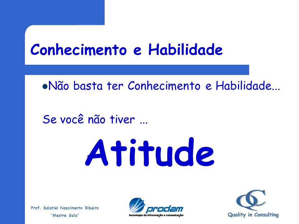 Prof. Salatiel Nascimento Ribeiro Mestre Sala Habilidade Todo conhecimento que temos é melhorado, aperfeiçoado com a Habilidade. É praticar o que se c