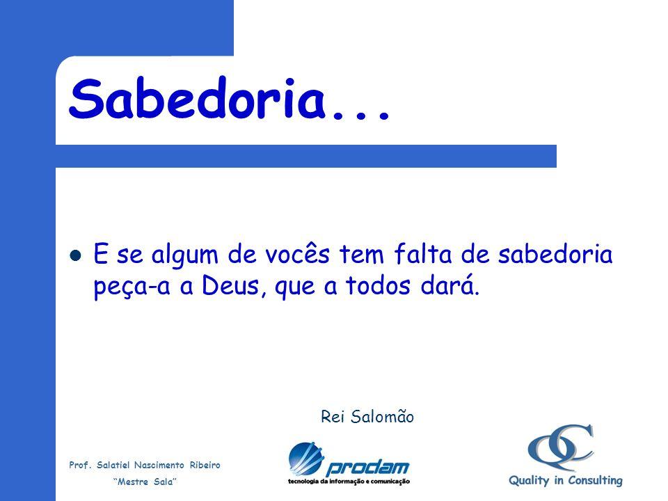 Prof.Salatiel Nascimento Ribeiro Mestre Sala O 11º mandamento do marketing pessoal.