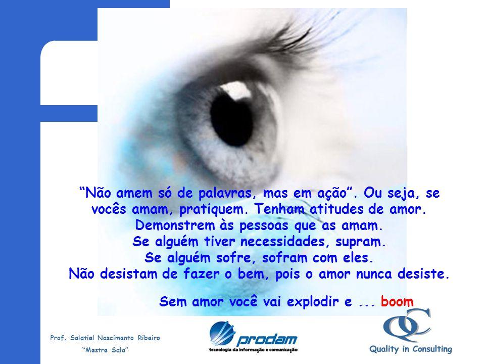 Prof. Salatiel Nascimento Ribeiro Mestre Sala Também afirma: As pessoas aprendem umas com as outras, assim como o ferro afia o próprio ferro. Cada um