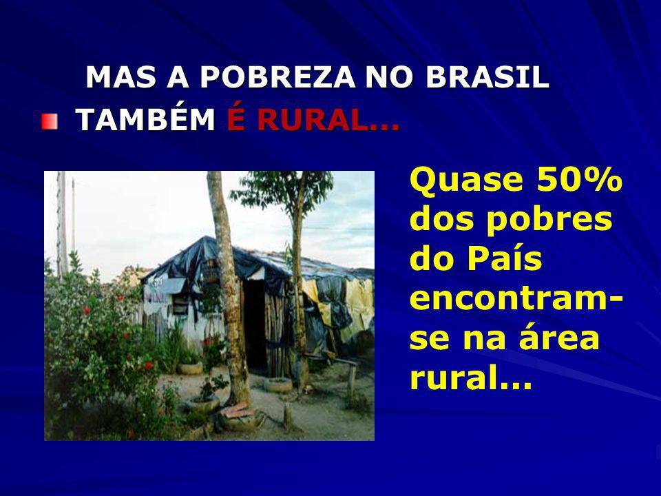 A POBREZA NO BRASIL É URBANA...