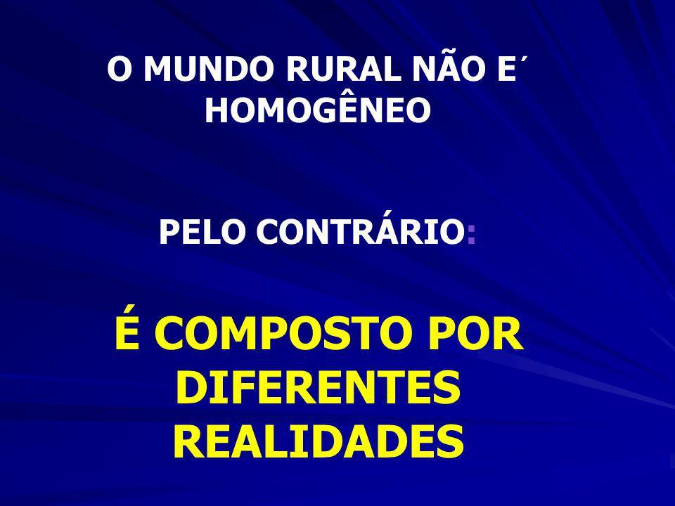MAS A POBREZA NO BRASIL TAMBÉM É RURAL... TAMBÉM É RURAL... Quase 50% dos pobres do País encontram- se na área rural...