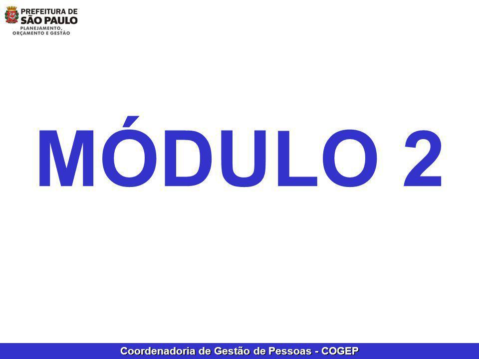 Coordenadoria de Gestão de Pessoas - COGEP MÓDULO 2