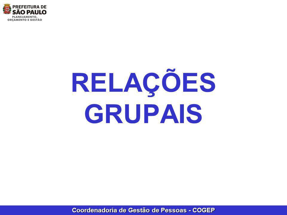 Coordenadoria de Gestão de Pessoas - COGEP RELAÇÕES GRUPAIS
