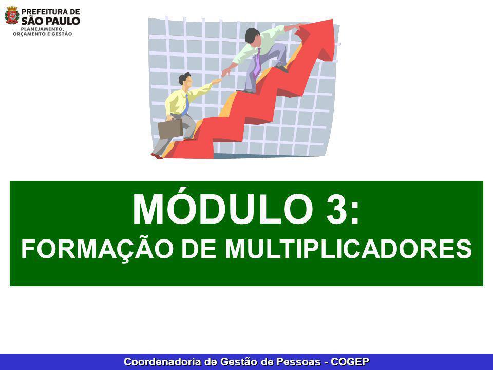 Coordenadoria de Gestão de Pessoas - COGEP INSTRUTOR X MULTIPLICADOR