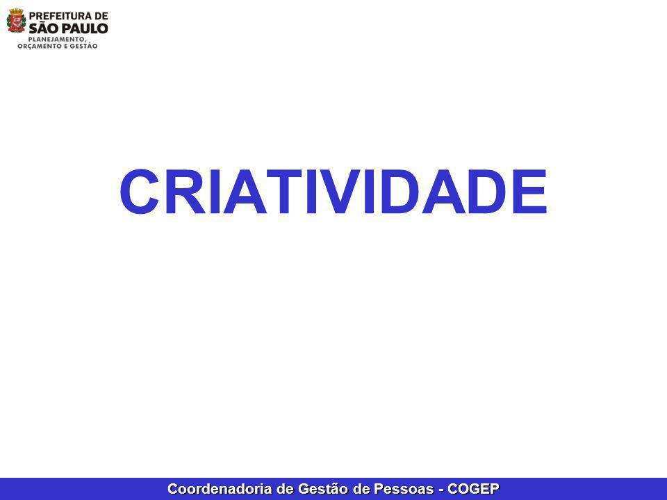Coordenadoria de Gestão de Pessoas - COGEP CRIATIVIDADE