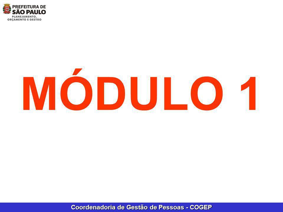 Coordenadoria de Gestão de Pessoas - COGEP MÓDULO 1