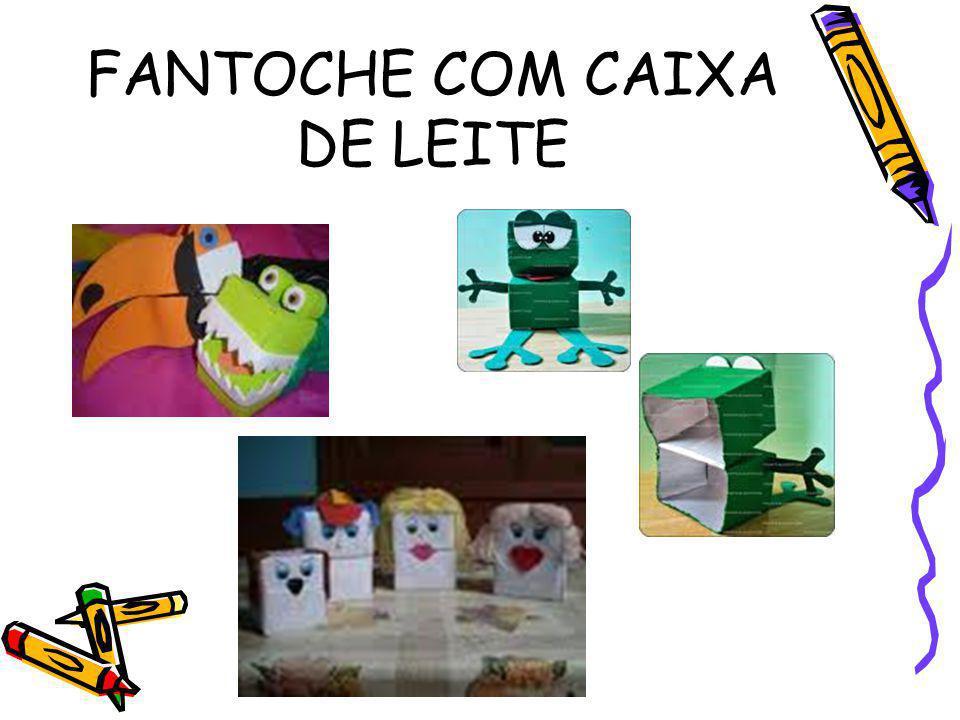 FANTOCHE COM CAIXA DE LEITE